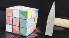 Sıvı Nitrojen Rubik Küp Üzerine Dökülürse