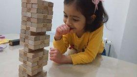 SLIME - Jenga - Baba Kız Kapışması ince motor gelişim oyunu ....Baba Kız Yeni Oyunu...