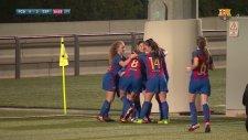 La Masia ürünü 15 yaşındaki Claudia Pina'da Lionel Messi golü