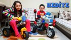Eren Ali'nin Erken Gelen Doğum Günü Hediyesi Akülü Dev Polis Motorsikleti