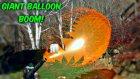 Devasa Balonların Ağır Çekimde Patlama Görüntüsü
