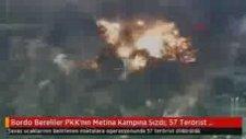Bordo Bereliler Pkk'nın Metina Kampına Sızdı 57 Terörist Öldürüldü