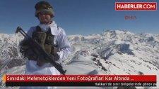 Sınırdaki Mehmetçiklerden Yeni Fotoğraflar Kar Altında Mücadele Veriyorlar