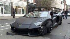 Lamborghini Aventador Kazası.