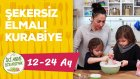 Kızlarla Şekersiz Elmalı Kurabiye Yaptık | Bebekler İçin Tatlı (1-2 Yaş) | İki Anne Bir Mutfak