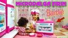 Barbie Microdalga Fırın Aldık Kara Kızın SLİME Yemeğini Isıtıp Yediriyoruz | Evcilik Oynuyorum