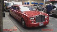 Red Rolls Royce Phantom Stretch Limo