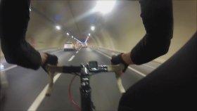 Avrasya Tüneli'nden Bisikletle Geçti