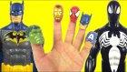 Batman vs Venom Finger Family Song   Daddy Finger Nursery Rhymes For Children