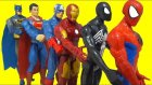 Guess Super Heroes Under Play Doh Cans   Super Heroes Finger Family Nursery Rhymes