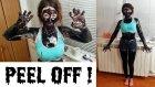 Siyah Nokta Maskesiyle Bütün Vücudunu Kaplayan İlginç Kadın