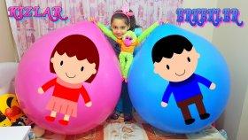 Erkekler Kızlara Karşı DEV Balon Patlatma En Güzel Oyuncak Kimin ? | Giant Balloon Challenge