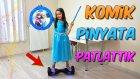Elsa Kostümü İle Airboard Üzerinde Pinyata Patlattık İçine Farklı Şeyler Koyduk!!
