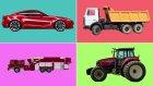 Çocuklar İçin Kara Taşıtları | Arabalar | Kamyonlar | Gerçek Araç Sesleri