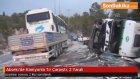 Akseki'de Kamyonla Tır Çarpıştı: 2 Yaralı