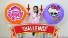 Dev Balonların İçinde Konfeti Patlattık Süper Oldu | Monster High Minis Vs My Little Pony Challenge