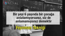 Öğrenmeyi ve Hatırlamayı Kolaylaştıran Yöntem: Feynman Tekniği-SESLİ MAKALE