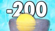 Sıvı Nitrojenle Balonları Dondurduk (-200 Derece)