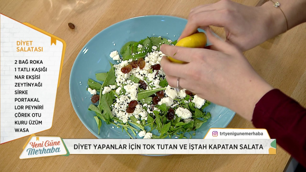 Tok tutan diyet salata tarifi