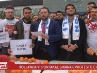 Hollanda'yı Portakal Sıkarak Protesto Etmek