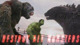 Avengers,King Kong Ve Godzilla'yı Karşı Karşıya Getiren Muhteşem Video
