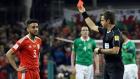 Taylor'un İrlanda maçında gördüğü kırmızı kart