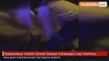 Ankara'da, Kazazedeye Yardım Eden Vatandaşın Cep Telefonu Çalındı