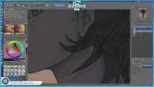 Red Haired Girl Digital Painting - SpeedArt & Krita   HG Animation