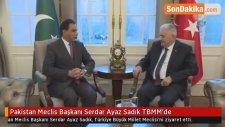 Pakistan Meclis Başkanı Serdar Ayaz Sadık TBMM'de