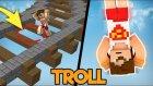 Minecraft Görünmez Cam Trollü !