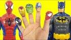 Spiderman vs Batman Finger Family Song | Daddy Finger Nursery Rhymes For Children
