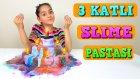 Üç Katlı Slime Pastası Yaptık Çok Güzel Oldu Kimler Bir Dilim İster?