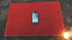 10 Bin Kibrit Üzerine İphone 7 Yerleştirilirse