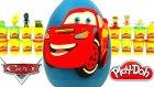 Şimşek Mcqueen Disney Arabalar Sürpriz Yumurta Oyun Hamuru - Tsum Tsum Cicibiciler