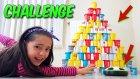 Havalı Futbol Diski ile Oyun Hamuru Kulesi Yıkma Yarışması!! | Cezalı Challenge