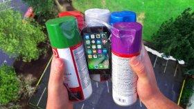 Sprey Boyalara Sarılarak Atılan iPhone 7'ye Düşme Testi