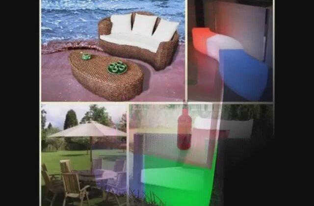 Bathmar muebles terraza jard n mobiliario con luz for Muebles terraza teka