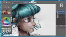 Mermaid Digital Painting - SpeedArt & Krita   HG Animation