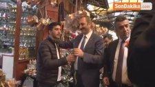 AK Parti Genel Sekreteri Gül'den Bakırcılar Esnafına Ziyaret