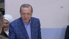 Cumhurbaşkanı Erdoğan Referandum Oyunu Torunlarıyla Birlikte Kullandı