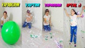 Dev Balonları Slime Malzemesiyle Doldurup Oynayın ve Patlatın | Slime Deneyi