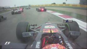 F1 Pilotu Max Verstappen'in İlk Turda Dokuz Aracı Geçmesi