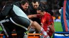 Ibrahimovic'in Anderlecht maçında sakatlandığı pozisyon