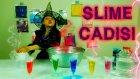 Kötü Cadı Slimer Dev Kazanda Değişik İksirlerle Kocaman Ürkütücü Slime Yapıyor