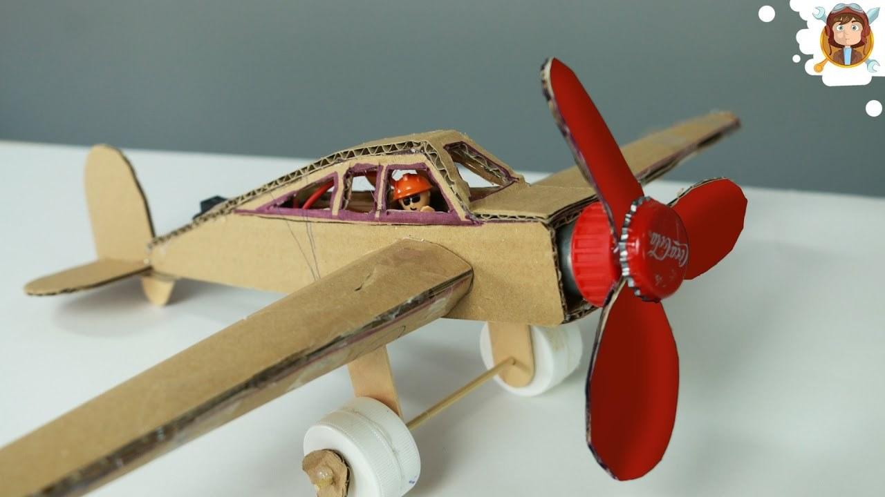 Kartondan Oluşan Motorlu Uçak Yapımı | İzlesene.com
