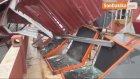 Siirt'te Şiddetli Rüzgar Apartman Çatısını Uçurdu