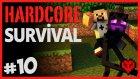 Ende Hazırlık Enderman Ve Tavuk Peşindeyim - Hardcore Survival - Bölüm 10