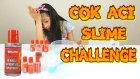 Çok Acı Slime Challenge Pul Biber vs Karabiber Slime Yarışması