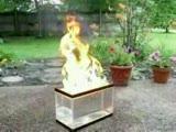 Akvaryumda Ateşle Müthiş Gösteri