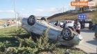 Cenaze Dönüşünde Mikser Kamyonuna Çarpan Otomobil Takla Attı